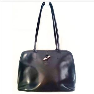 🎉Longchamp Roseau Black Leather Medium Tote🎉